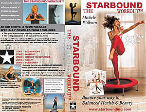 Starbound rebounder video compilations and new DVD mini trampoline compilations, presented by Michele Wilburn, a leading fitness professional in rebounding aerobics exercise, are availble from www.starbounding.com