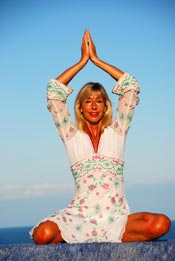 Michele Wilburn producer and presenter of Energyia fitness holidays in Greek Islands