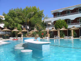 Energyia holistic fitness holiday retreat guests at the Hotel Vasilikos Beach have a lovely relaxing atmosphere with wonderful beaches and a small village ambience